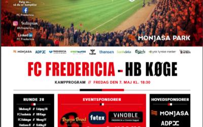 Digitalt kampprogram til HB Køge-kampen