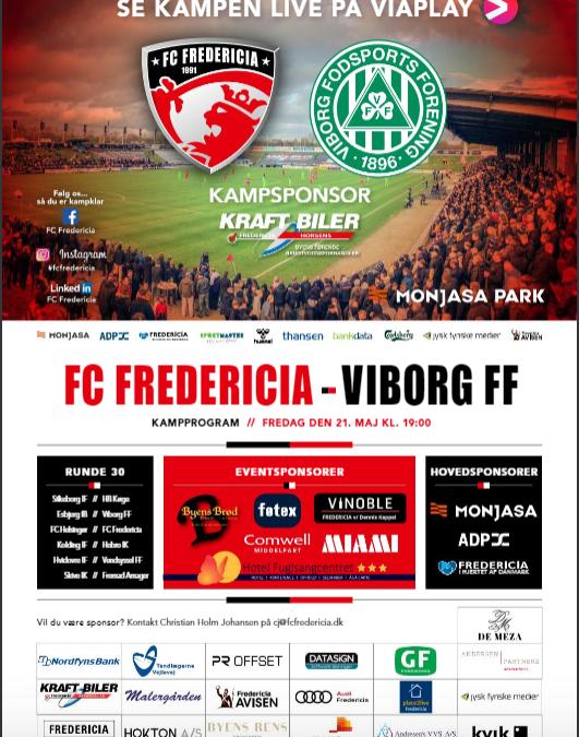Kampprogrammet til Viborg-kampen